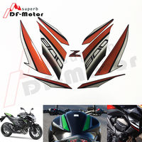 For Kawasaki Z800 2013 2014 2015 2016 Stickers Decal Motorcycle Stickers and Decals DIY Stickers Original car sticker Orange