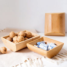 Original dried fruit plate living room coffee table nut storage box household bamboo dried fruit box candy box snack plate(China)