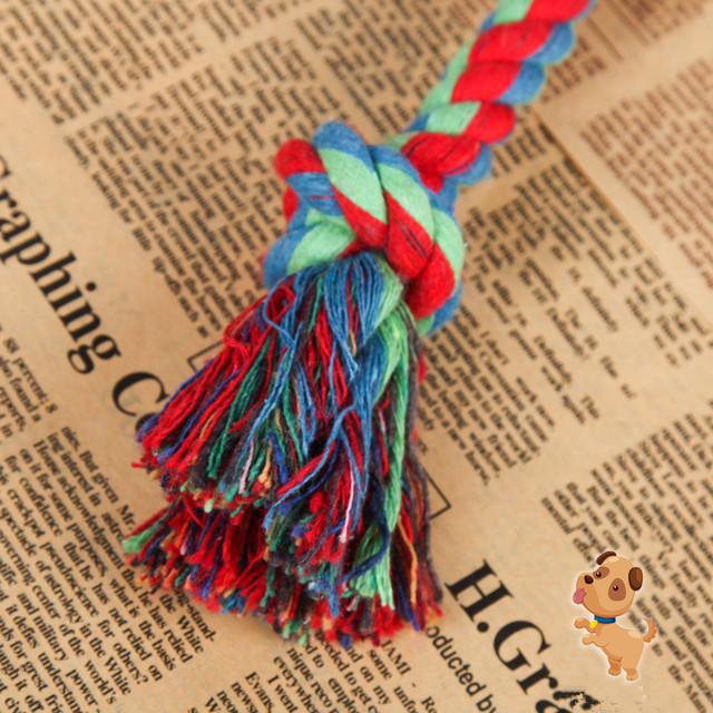 1 pcs Pet Forniture Cane di Animale Domestico Del Cucciolo del Cotone Chew Toy Nodo Durevole Intrecciato Bone Corda 17 e 20 centimetri Divertente giocattoli di formazione (Colore Casuale)