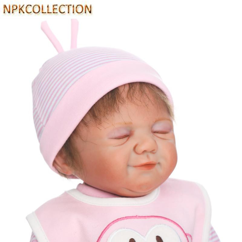 NPKCOLLECTION 45CM Real Dolls Reborn Babies Bonecas Baby Alive Birnquedos,18'' Full Silicone Reborn Dolls Babies Girl XMAS Gift npkcollection 52cm full body silicone reborn dolls babies alive bonecas newborn girl baby doll toys for kids christmas xmas gift