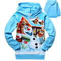 2014 New Spring Autumn baby clothing Olaf  Anna Elsa Hooded sweater Long Sleeve Cotton Children Outerwear kids clothing