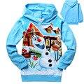 2014 nueva primavera otoño bebé ropa de Olaf Anna Elsa suéter con capucha de algodón de manga larga niños abrigos ropa niños