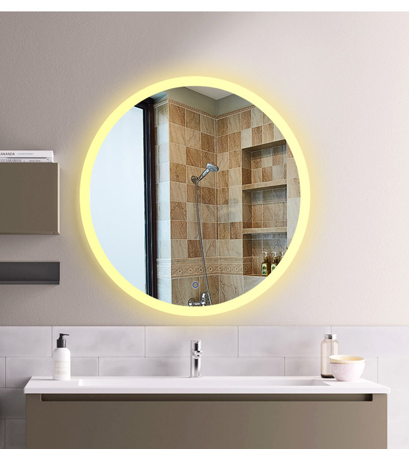 Bluetooth Music Wall Mirror LED Bathroom Makeup Mirror Intelligence Display HD illuminated bathroom Mirrors moisture-proof Board 4