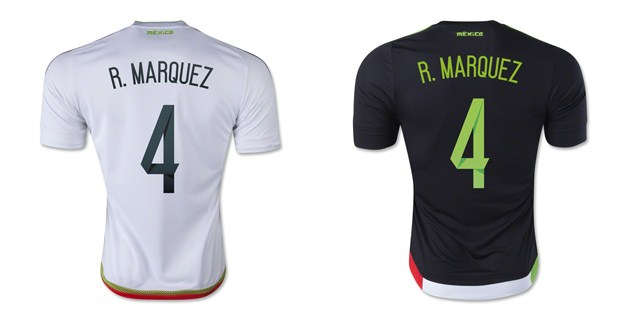b247be56924 ... 2015 mexico rafael marquez 4 home away soccer jersey offical authentic  football dry fit t
