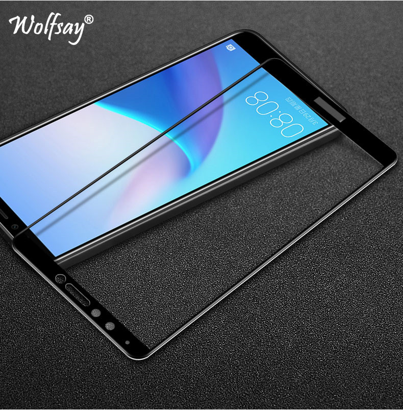 2pcs Glass Huawei Y9 2018 Screen Protector Tempered Glass For Huawei Enjoy 8 Plus Glass Huawei Y9 2018 FLA-AL00 Full Cover Film