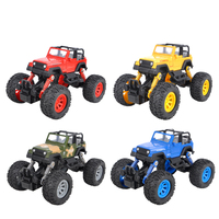 Simulation Pull back power toy car children metal alloy car model boy truck model shock wheels hot Climbing for birthday