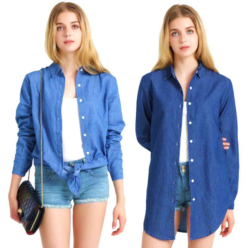 eb1b314afb9b2 2018 Jean Jacket Light Blue Bomber Short Denim Jakcets Jaqueta Casual  Ripped Jeans Coat Long Sleeve 2XL Outwear Jacket