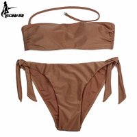 EONAR Bandeau Bikinis 2017 Women Swimsuit Brazilian Bikini Set Swimwear Female Bathing Suits Maillot De Bain