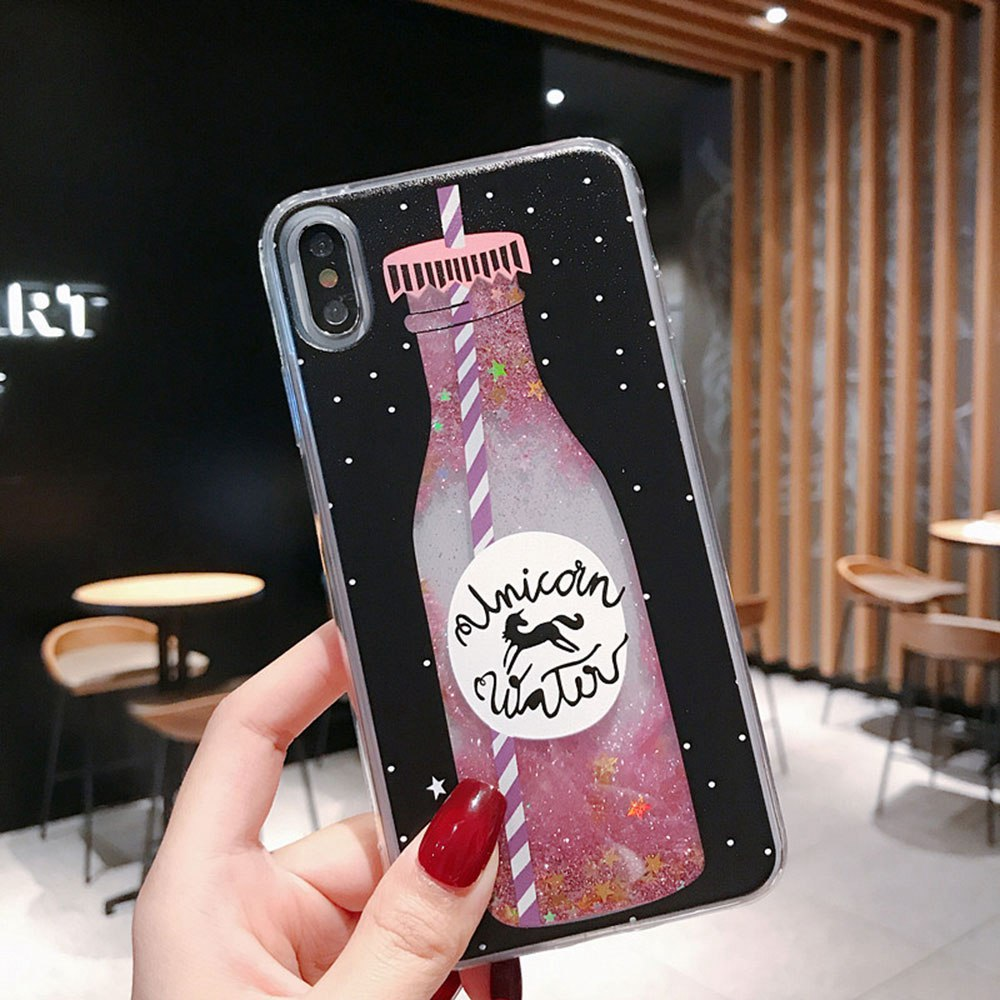 TPU Soft Cover Phone Case For Huawei P20 Mate 20 Lite Pro P30 Pink Bottle Pattern