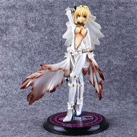 Anime Fate/stay night 22cm Saber Nero PVC action figure Saber wearing a wedding dress Collection Model Doll Toys Gift