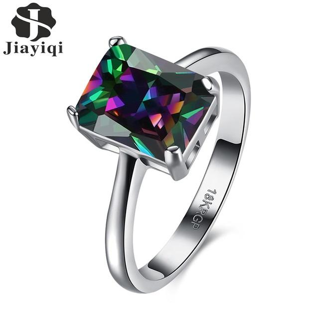 Rainbow Cubic Zirconia Stone Ring
