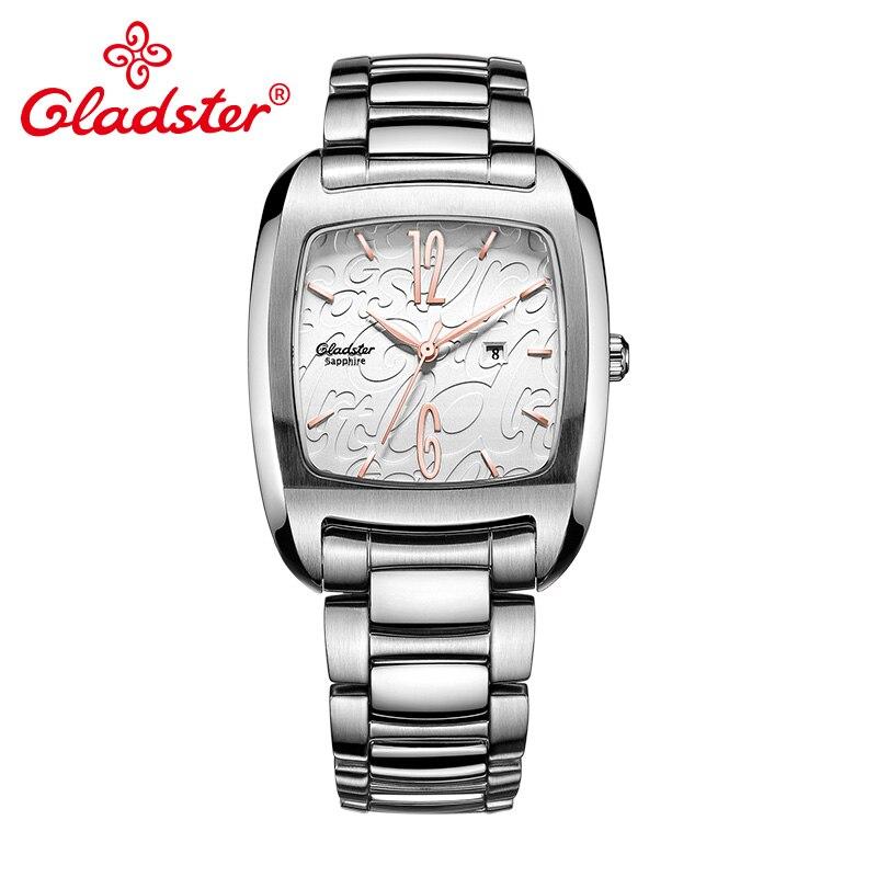 Gladster Luxury Japan MIYOTA 9T13 Lady Watch Sapphire Crystal Stainless Steel Female Wristwatch Shading Dial Women Analog Clock цена 2017