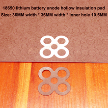 50pcs/lot 18650 lithium battery universal high temperature insulation gasket 4 pack accessories DIY