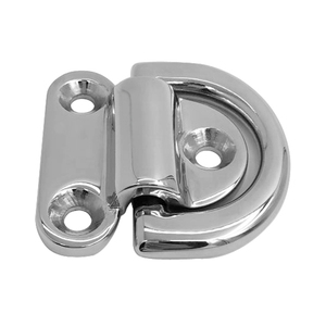 Image 4 - 316 stainless steel D ring/ 6mm Folding Pad Eye Deck Lashing Ring Staple Cleat for Trailer Marine Boat