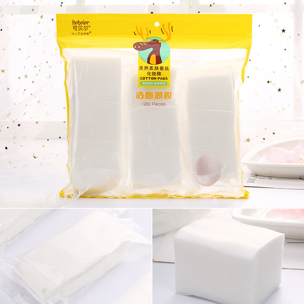 1200 Cotton Pads Natural Non-irritating Facial Cleansing Makeup Remover Cotton Puff Daily Makeup Beauty Tools25