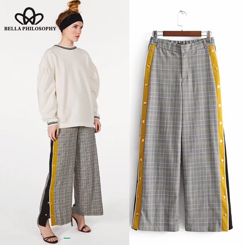 Women's Clothing Wonder 2018 New Vintage Snake Skin Print Side Stripe Pants Ankle Length Elastic Waist Pocket Trousers Female Sexy Leisure Pants