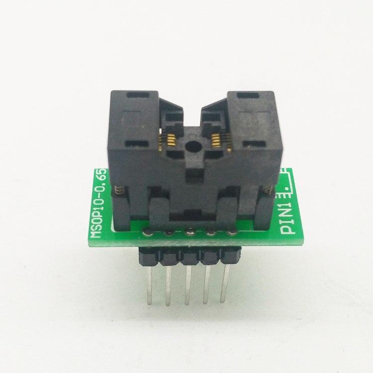 MSOP10 To DIP10 MCU Programmer Test Socket Pitch 0.5mm IC Body Width 3mm Programming Socket Adapter bga24 to dip8 ic adapter socket for 8x6mm body width bga chips