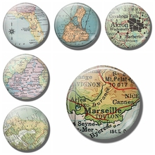 Marseille Map 30 MM Fridge Magnet Toulon Cannes France GLASS Magnetic Refrigerator Stickers Note Holder Home Decoration