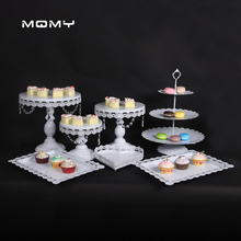 cake stand  Gold and white wedding tools fondant bakeware decorating supplies dessert table pops 6-12 pcs