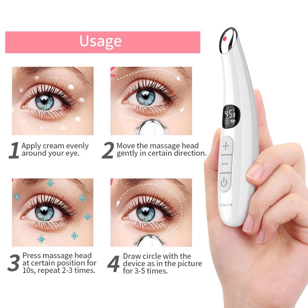 Image 5 - Мини Электрический Вибрационный массажер для лица и глаз, антивозрастной массажер для глаз, морщин, удаление темных кругов, портативный массаж для ухода за красотой, ручкаУстройство для ухода за кожей лица    АлиЭкспресс