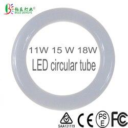11 Вт 12 Вт 18 Вт круглый светодио дный трубки AC85-265V G10q SMD2835 T9 светодио дный круглой трубе светодио дный круг кольцо лампа легкий алюминиевый кол...