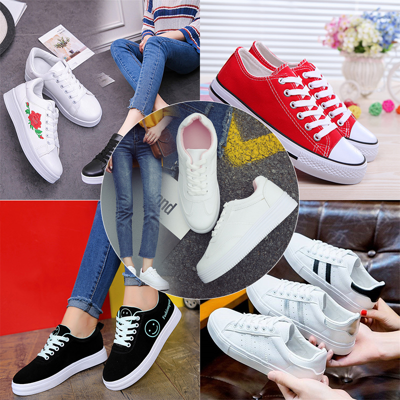 Shoes Women Breathable Female Flower Print Sneakers Outdoor Flats Shoes Sneakers Platform Zapatos De Mujer Soft Footwears