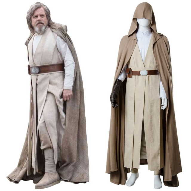 star wars 8 the last jedi cosplay luke skywalker costume cape outfit