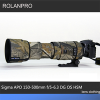 ROLANPRO Lens Camouflage Coat Rain Cover for Sigma APO 150 500mm f/5 6.3 DG OS HSM Lens Protective Case Clothing Lens Sleeve