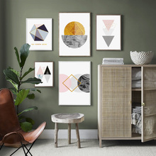 Abstract Geometry Modern Scandinavian Nordic Posters and Prints Wall Art Canvas Painting Picture For Living Room Home Decor