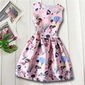 New Design Girls Dress summer cute cartoon hot air Balloon Printing Children Dress Cloth Party Vestidos Infants Dress Dresses
