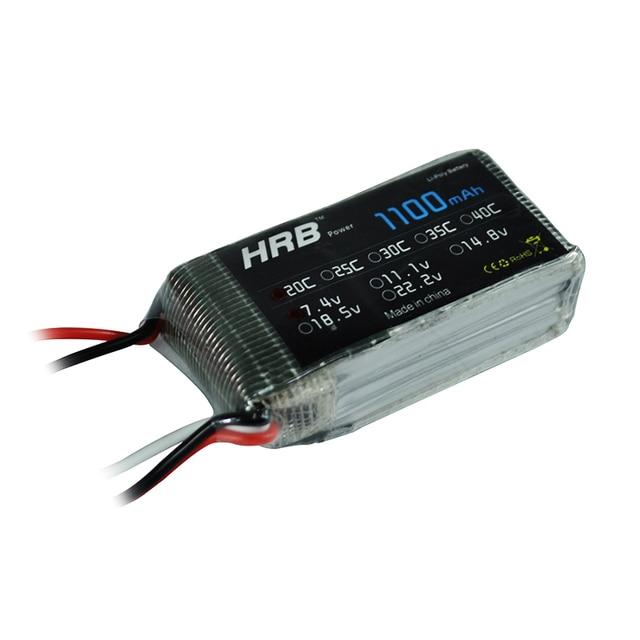 HRB 2S 7.4V 1100mAh 25C Lipo