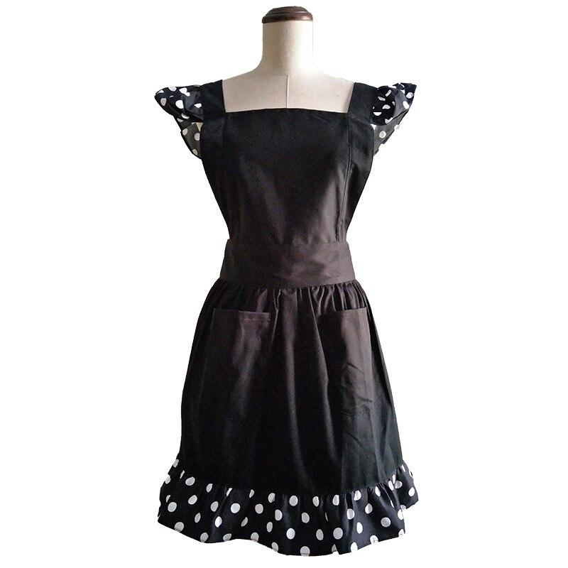 Küchenschürze Frau kocht schwarzer Baumwolle Lolita Cross Back - Haushaltswaren - Foto 1