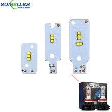 10 шт. светодиодная лампочка в автомобиль чип ZRS светильник источник для X3 авто светодиодный налобный фонарь H1 H3 H4 H7 H11 880 9004 9005 9006 9012 головной светильник светодиодный чипы