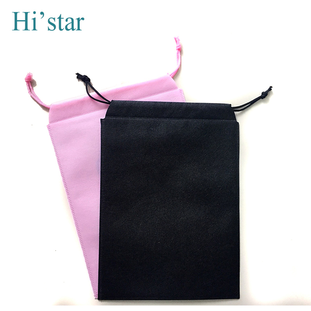 719dc4f3749b4 40 pieces High quality shoe dust bags non-woven drawstring bags blank non  woven shoe bag travel clothing bag