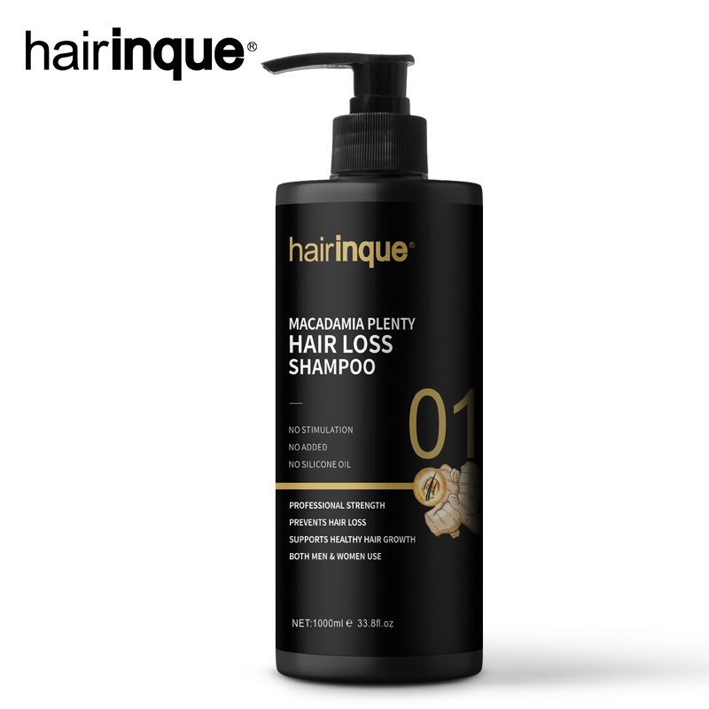 HAIRINQUE Hot Sale 1000ml Macadamia Plenty Hair loss Shampoo Hair Thinning Therapy for Shampoo for All Hair Types Men & Women image