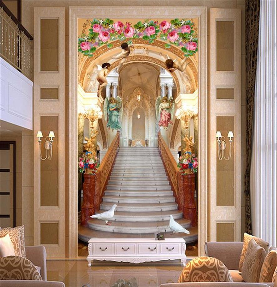 3d Murals Wallpaper Stairway To Heaven Dove Entrance