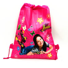 1pc/lot ladybug bags children travel school bags kids party favors Soy Luna drawstring backpack bags 27*36cm party gift bag(China)
