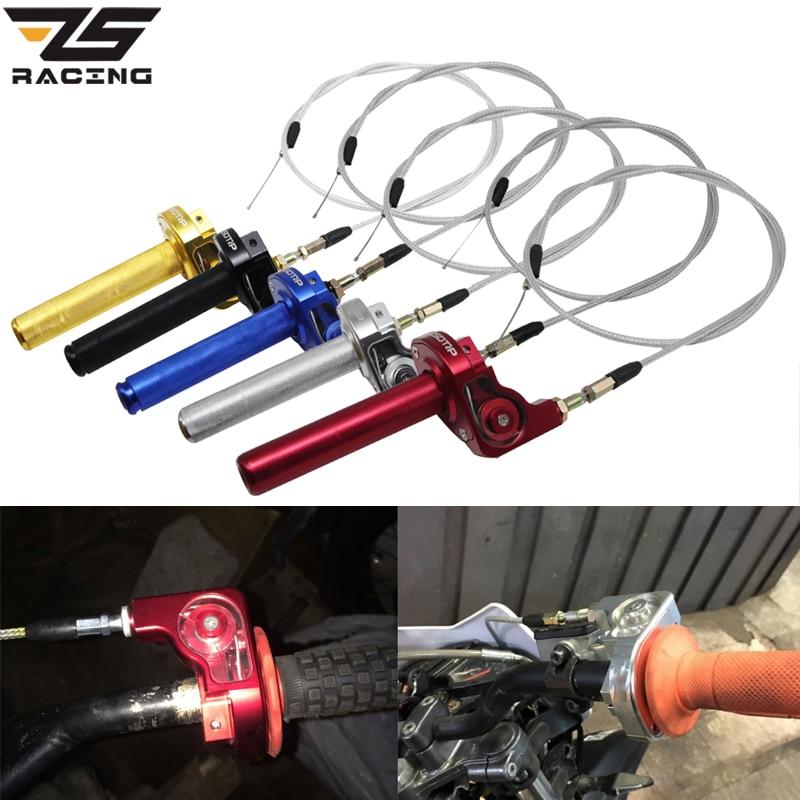 7//8/'/' Twist Throttle Handlebar Grips And  Cross Bar Pad Motocross Dirt Bike