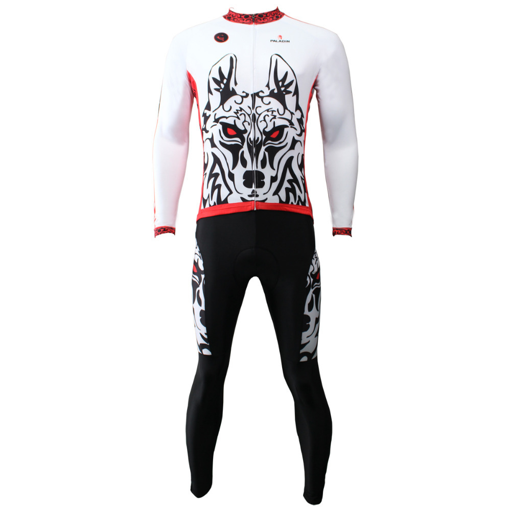 Jerseys New Arrival Maillot Ciclismo 2017 Wolf Totem Men Long Sleeve Cycling Polyester Bicycle Clothes Breathable Bike S-6xl 2016 new men s cycling jerseys top sleeve blue and white waves bicycle shirt white bike top breathable cycling top ilpaladin