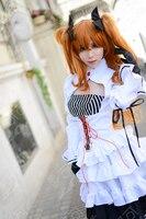 EVA Asuka Soryu Asuka Langley Wigs Shikinami Soryu Asuka Rangure Orange Clip Ponytail Cosplay Wig