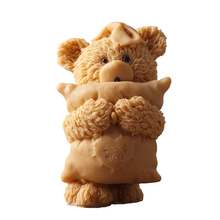 3D Little Bear with Pillow Silicone Soap Candle Mold DIY Handmade Craft Resin Clay Decorating Tool