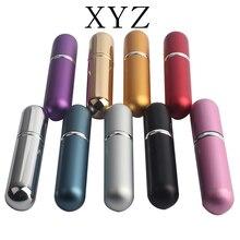 Sıcak 5ml doldurulabilir taşınabilir Mini parfüm şişesi gezgin alüminyum sprey Atomizer boş tencere 1pcs9 renkler mevcut