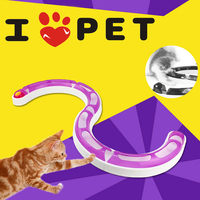 New 2017 Fun Cat Pet Track and Ball Toys Chase Game Orbit Balls Toys For Cats Gatos Brinquedo Products For Cats