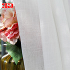 White Solid Cotton Tulle Curtains For Living Room Short Sheer Curtain Kitchen Decor Balcony Voile Window Screen Single Panel