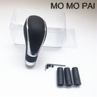 MOMO PAI Car Leather Gear Auto Conversion Gear Lever Manual Automatic Universal Gear Lever Pomo De
