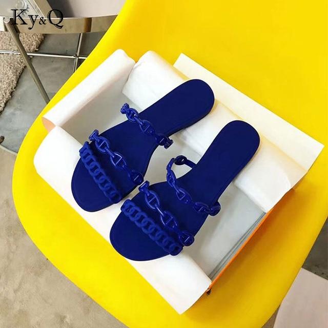 06bf9ea73 Spring summer Brands Women Jelly Flip Flops Female   Summer Transparent  Beach Flip Flops Female Cute Flip Flops
