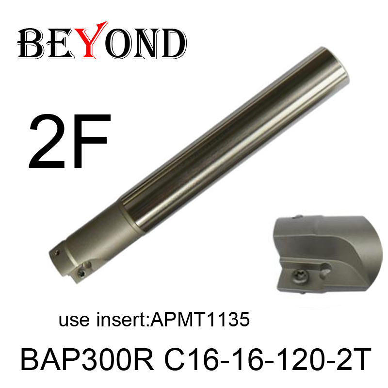 BAP300R C16-16-120-2T,Right angle 90 degree milling cutter arbor Fraise en bout for APMT1135 carbide inserts 2 flute ahu10 20xc20x200l 2t 90 degree right angle indexable milling cutter high qaulity milling cutter for jdmt1003 carbide inserts