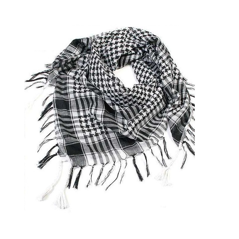 Arab Scarves Men Winter Military Windproof Scarf Cotton Muslim Hijab Shemagh Tactical Desert Arabic Scarf Shawl Neck Cover Wraps