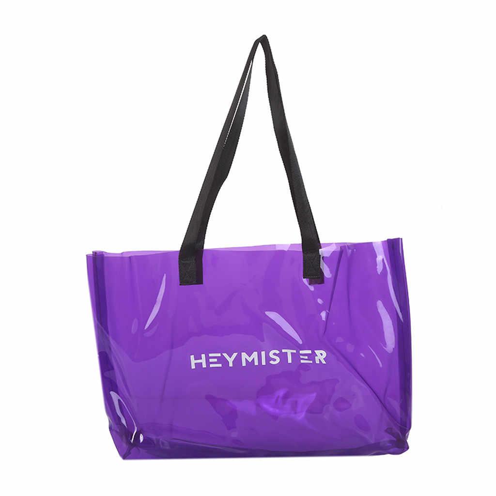OCARDIAN Handbags Large Women's Bags High Quality Fashion Lady Wild Transparent Candy Beach Shoulder Female Bag bolso mujer