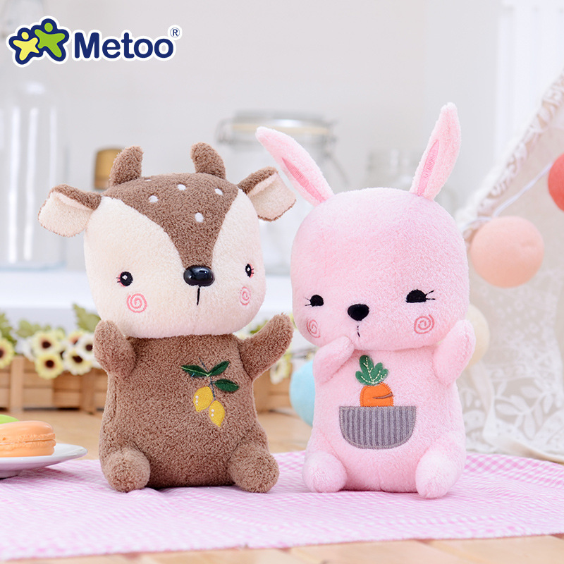 1 Pc Metoo Health Soft Rabbit Deer Dolls Plush Stuffed Cartoon Kids Toys for Girls Children Baby Birthday Christmas Gift  Doll 5color 42cm cute kids plush rabbit toys animals soft stuffed dolls cartoon tv